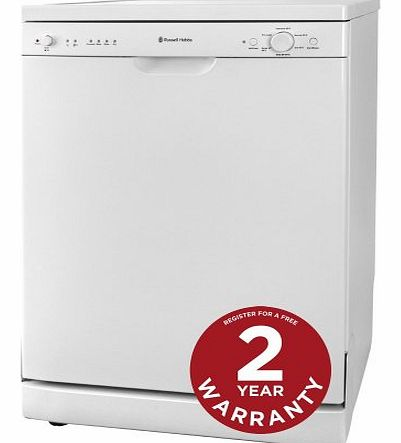 White Freestanding 60cm Wide Dishwasher RHDW2 - Free 2 Year Warranty*
