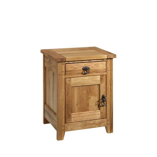 Rustic Oak Bedroom Furniture Rustic Oak Bedside Cabinet Left Hinged