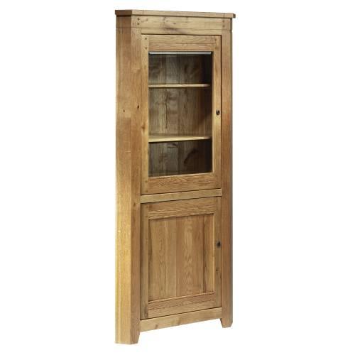 Oak Corner Dresser Unit Rustic Furniture