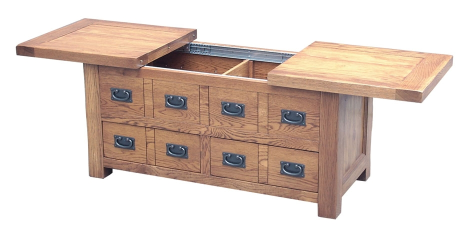 Oak coffee tables with storage National home furniture beckley wv