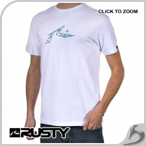 Rusty t shirt rusty hardway t shirt white review for T shirt company reviews