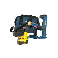 Ryobi Cck-18/2-006 One  18V Cordless Combi Hammer Drill and Angle Drill   Bag   2 Batteries