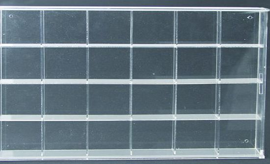 Safe Albums Acrylic Glass Display Case - 24 spaces