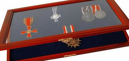 Safe Wooden Display Case for Medals and Badges of Honour