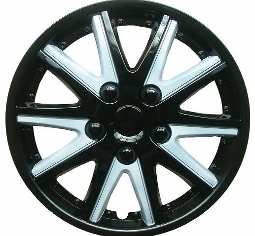 13-inch Asteriod Wheel Trims - Black/ Silver
