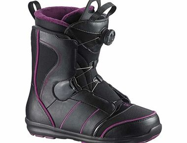 Salomon Pearl Boa Boots - Black/Deep Plum product image