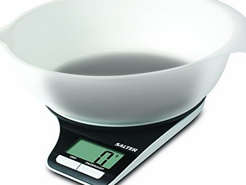 Salter Measuring Jug Electronic Digital Kitchen Scale, Black/Clear