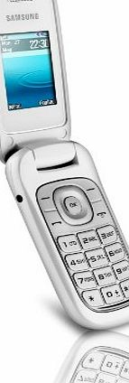 E1270 flip mobile phone in white on Orange pay as you go