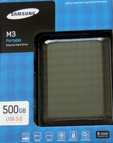 Samsung  500GB M3 PORTABLE USB3.0 EXTERNAL HDD BLACK (HDDEXT3-HX-M500TCB/SGT) product image
