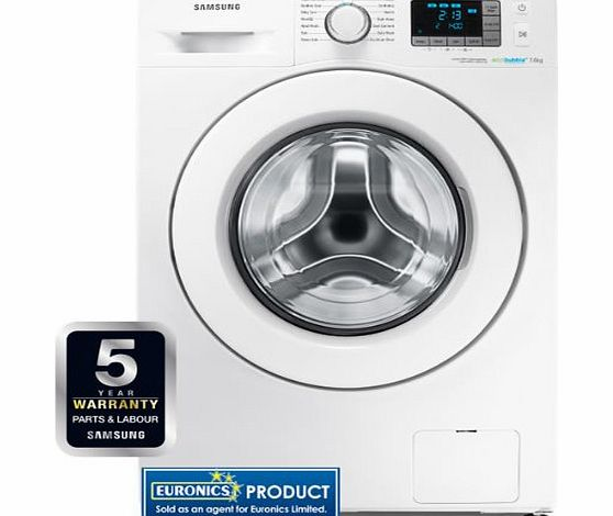 Samsung WF70F5E3W4W 1400rpm EcobubbleTM Washing Machine 7kg Load A    Whit