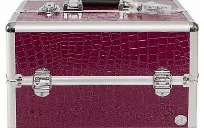 San Remo Beauty Boxes San Remo Purple Croc Cosmetics and Make up Case