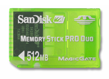 512Mb Memory Stick Duo Pro Gaming