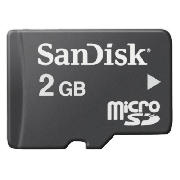 Sandisk Micro SD 2GB Memory Card product image