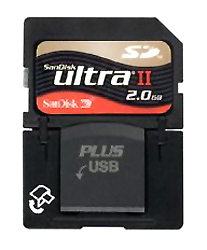 Sandisk Ultra II SD Plus 2GB Card and Reader product image