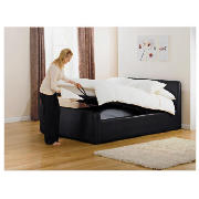 Santorini Double Bed, Black and Simmons Pocket product image