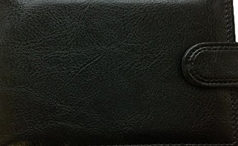 Santos  DESIGNER MENS FAUX LEATHER BIFOLD WALLET SOFT WITH ZIP COMPARTMENT product image