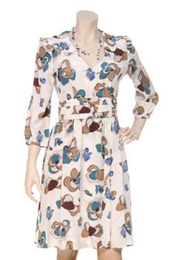 Sara Berman Alicia Printed Silk-Satin Dress - Polyvore