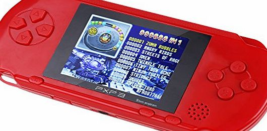 SAVFY 16 bit Handheld Video LED Game Console Portable Video Games Retro Megadrive PXP(Red)