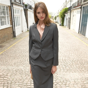 Charcoal Pinstripe Sophia Suit Jacket