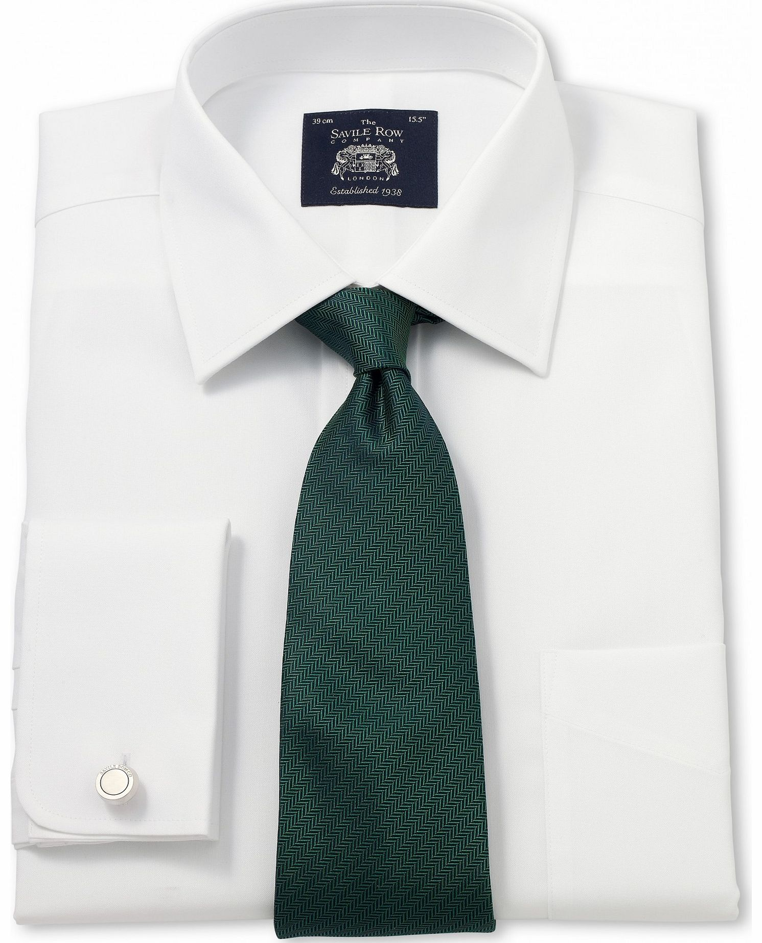 Savile Row Company White Non-Iron Classic Fit Shirt 15`` Standard & product image