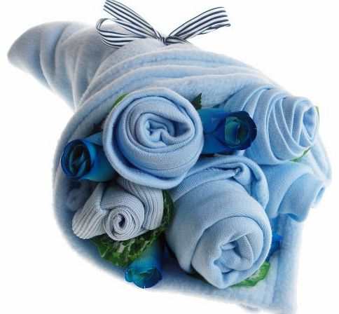 Say It Baby Traditional Baby Blues Clothes Bouquet