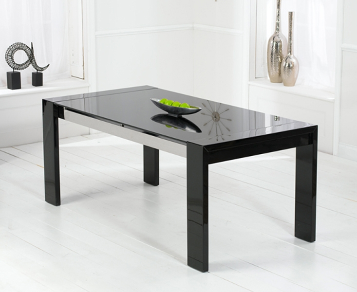Magnificent Black High Gloss Dining Table 733 x 600 · 174 kB · jpeg