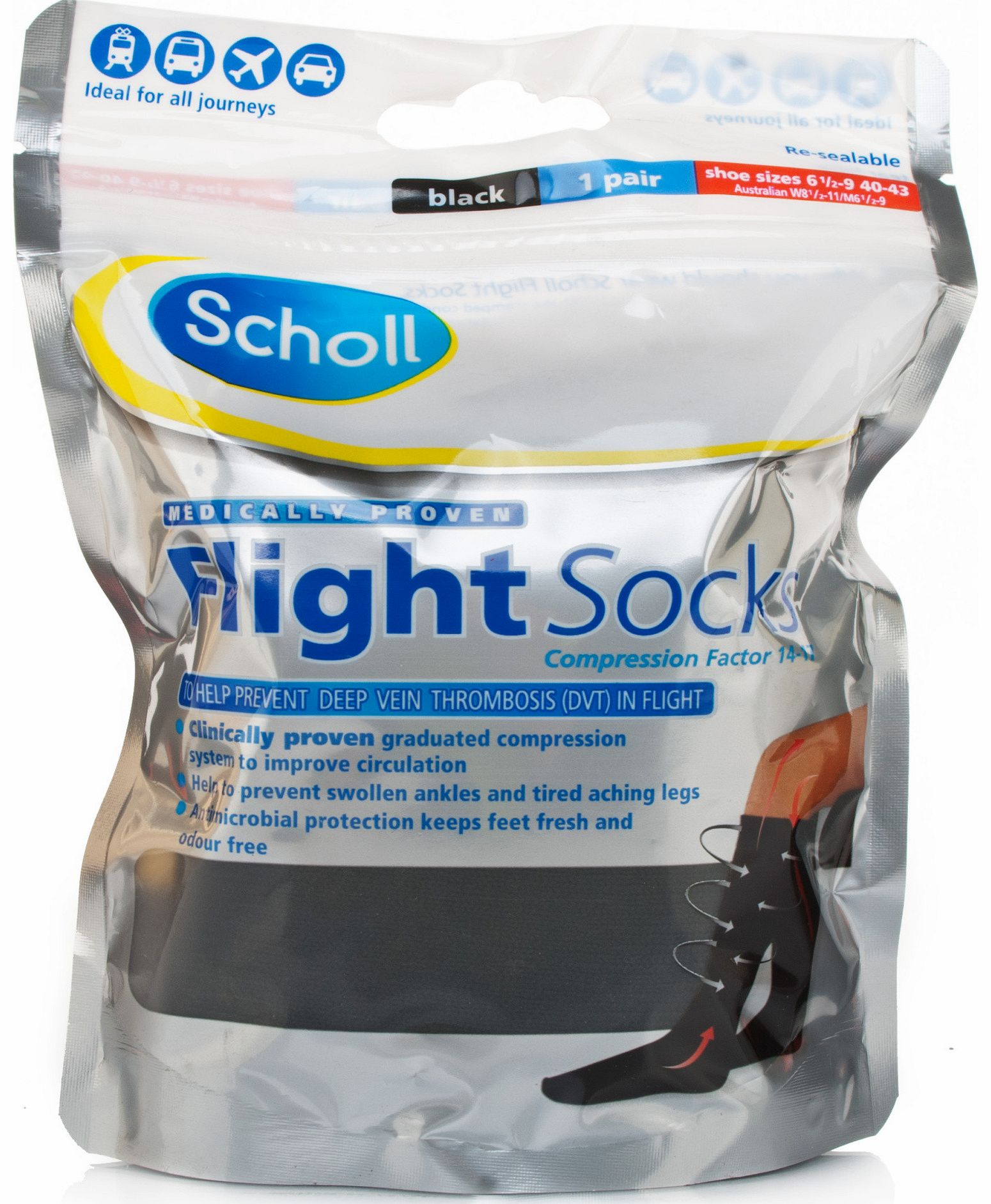 Flight Socks Sizes 6.5-9