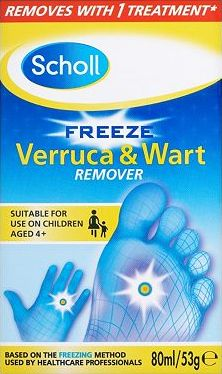 Scholl, 2041[^]10055872 Freeze Verruca Wart Remover - 80ml / 53g