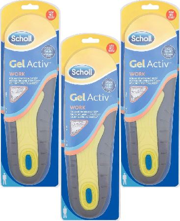 Scholl, 2102[^]0139134 Gel Activ Work Insoles For Men - Triple