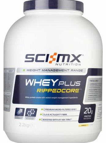 Sci-MX Nutrition  Whey Plus Rippedcore 2.2 kg Vanilla - Whey protein shake with added weight management ingredients