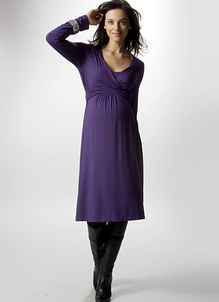 Scoop Neck Wrap Dress