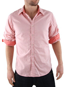 Scotch & Soda Scotch and Soda Pink Fixed Sleeve Shirt product image