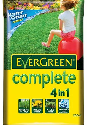 Scotts Miracle-Gro EverGreen Complete 200 sq m Lawn Food, Weed and Moss Killer Bag