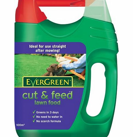 Scotts Miracle-Gro EverGreen Cut amp; Feed 100 sq m Lawn Food Spreader