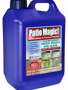 Scotts Miracle-Gro Patio Magic! 2.5 Litres Liquid Concentrate Mould, Algae and Moss Killer