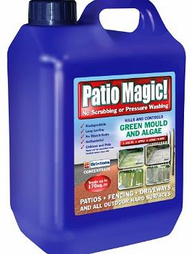 Scotts Miracle-Gro Patio Magic! 5 Litres Liquid Concentrate Mould, Algae and Moss Killer