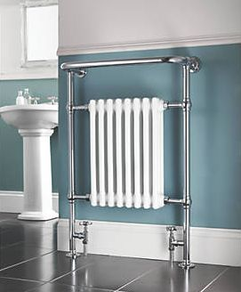 Screwfix, 1228[^]61343 Bathroom Radiator Chrome 952 x 659mm 1699BTU 61343
