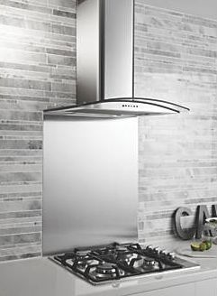 Screwfix, 1228[^]93117 GHX60SS Curved Glass Cooker Chimney Hood