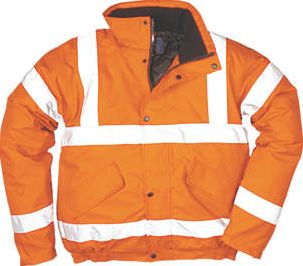 Screwfix, 1228[^]89421 Hi-Vis Bomber Jacket Orange XX Large 50-52``
