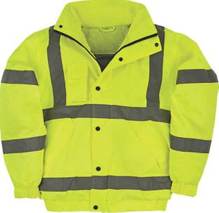 Screwfix, 1228[^]48386 Hi-Vis Bomber Jacket Yellow Large 52½`` Chest