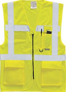 Screwfix, 1228[^]91294 Hi-Vis Executive Waistcoat Yellow Large 42-44``