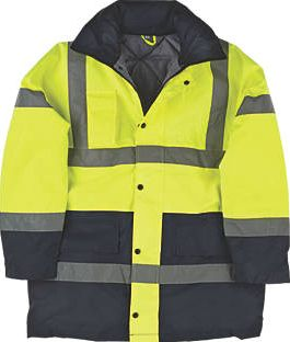 Screwfix, 1228[^]25687 Hi-Vis Padded 2-Tone Coat Yellow/Black X Large
