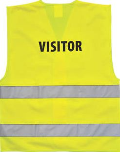 Screwfix, 1228[^]31782 Hi-Vis Visitors Waistcoat Yellow Small / Medium