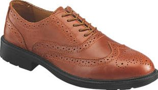 Screwfix, 1228[^]2436G S76SM Brogue Safety Shoes Tan Size 12 2436G