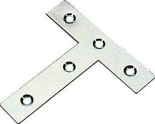 Screwfix, 1228[^]19534 Tee Plates Zinc-Plated 77 x 16 x 76mm 10 Pack