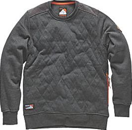 Scruffs, 1228[^]8977C Crew Neck Quilted Fleece Jumper Charcoal