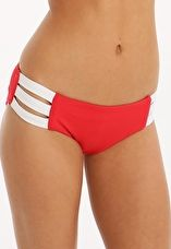 Seafolly, 1295[^]276602 Block Party Multi Strap Hipster - Chilli Red