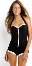Seafolly, 1295[^]237966 Block Party Retro Maillot - Black