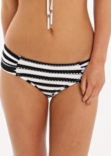 Seafolly, 1295[^]259222 Coast to Coast Ruched Side Retro Pant - Black
