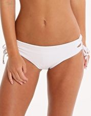 Seafolly, 1295[^]253225 Goddess Lace Up Hipster - White